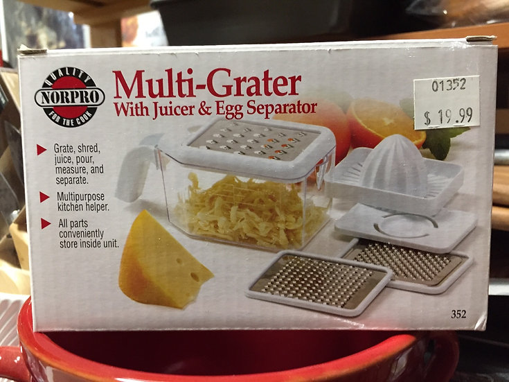 Multi Grater with Juicer and Egg Separator