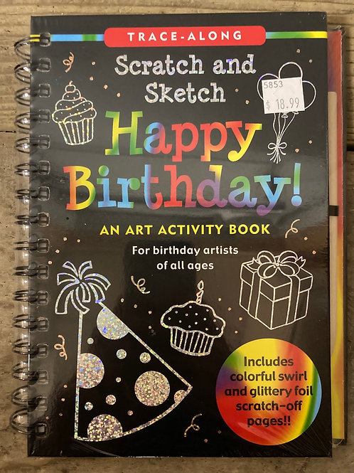 Scratch and Sketch Happy Birthday! Art Activity Book