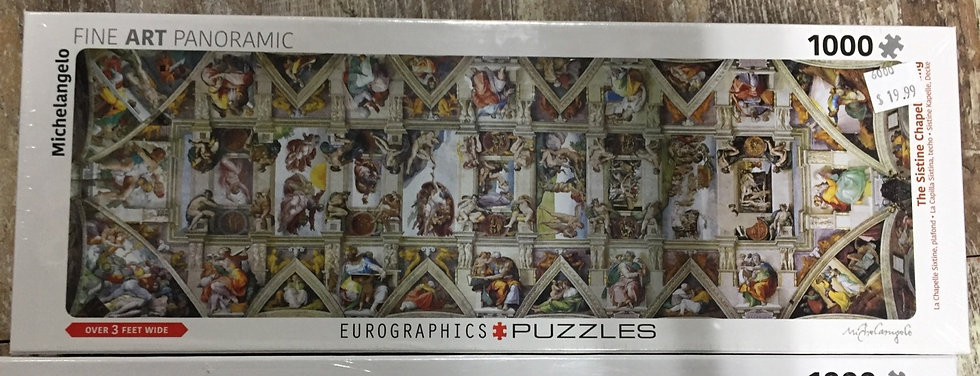Sistine Chapel - 1000 Piece Panoramic Puzzle