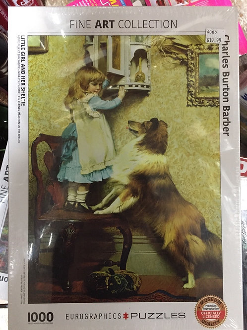 Little Girl and Her Sheltie - 1000 Piece Puzzle
