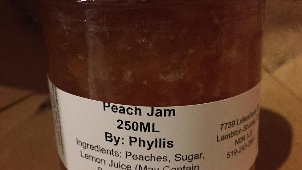 Phyllis's Peach Jam (250 ml)