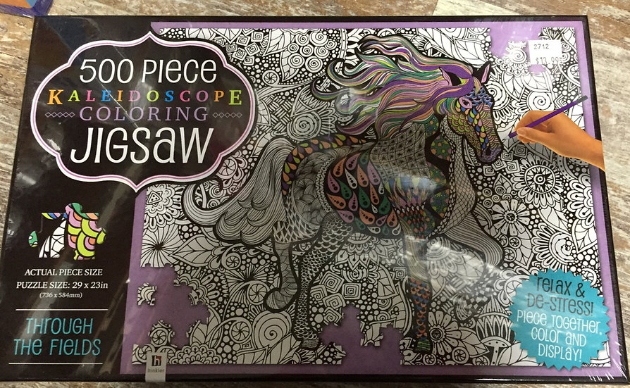 500 Piece Colouring Jigsaw Puzzle