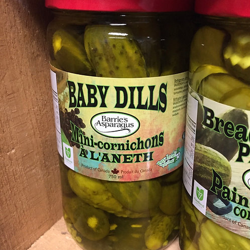 Barrie's Asparagus Baby Dill Pickles