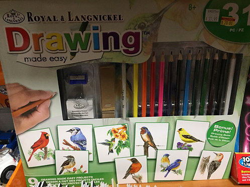 Royal & Langnick Bird Drawing Made Easy Kit
