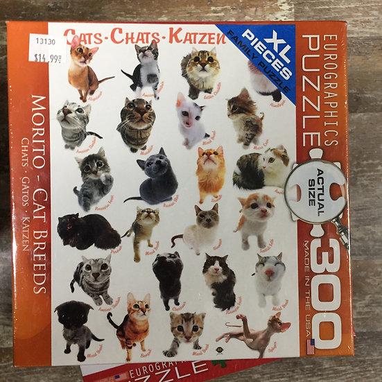 Cat Breeds - 300 Piece Puzzle