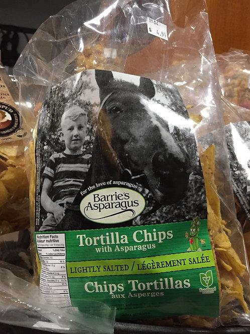 Barrie's Asparagus Tortilla Chips with Asparagus