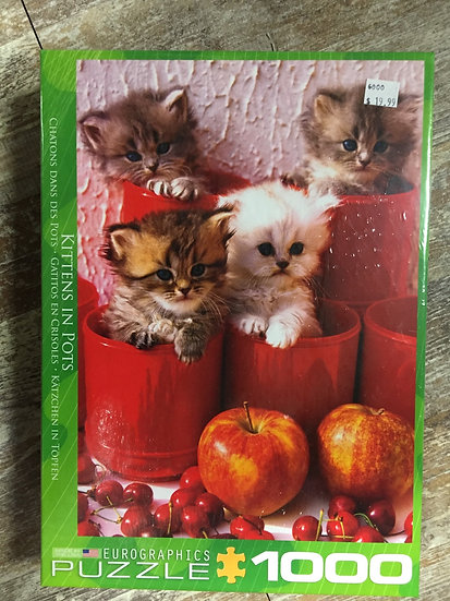 Kittens in Pots - 1000 Piece Puzzle