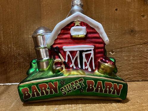 Barn Christmas Tree Ornament