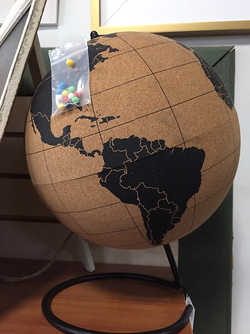 Cork Globe with Pins