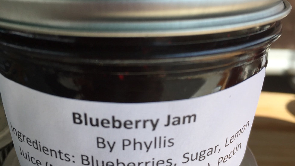 Phyllis's Blueberry Jam (125 ml)