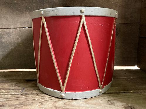 Concrete Drum Shaped Planter