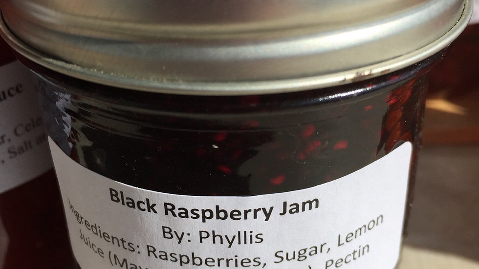 Phyllis's Black Raspberry Jam (250 ml)
