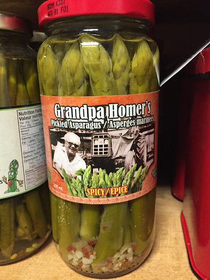 Grandpa Homer's Spicy Pickled Asparagus