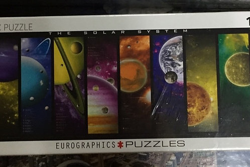 The Solar System - 1000 Piece Panoramic Puzzle