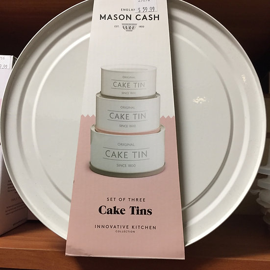 Mason Cash 3 Piece Metal Cake Tins