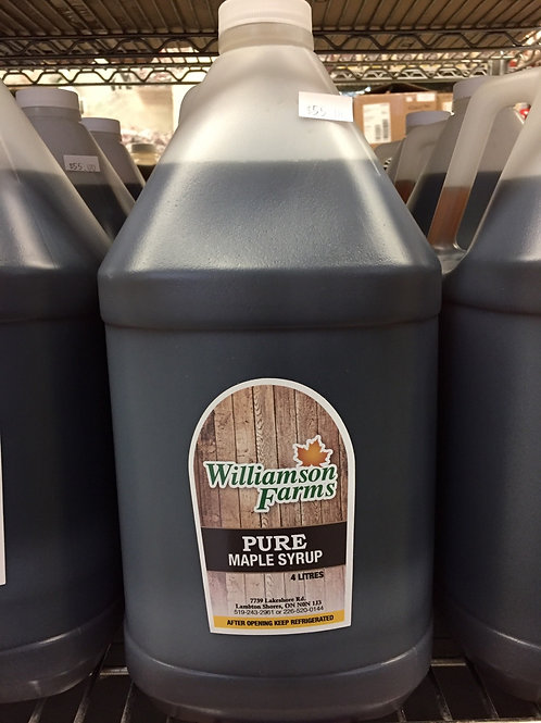 4 liter maple syrup - farmgate