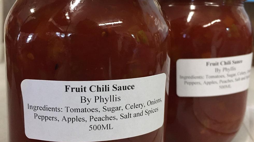 Phyllis' Fruit Chili Sauce (500 ml)