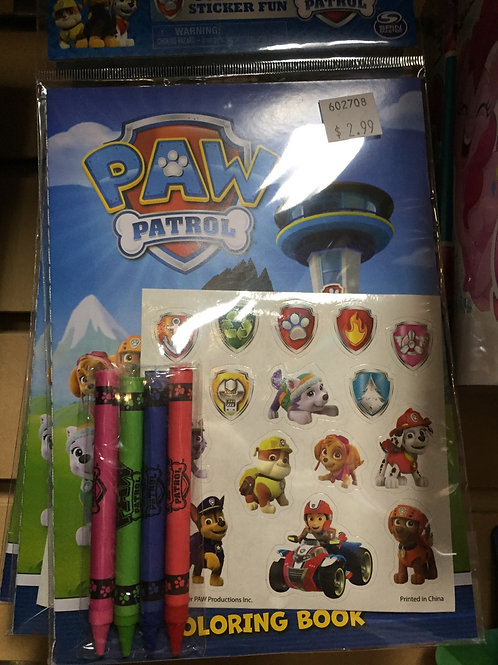 Paw Patrol Sticker Fun and Colouring Book