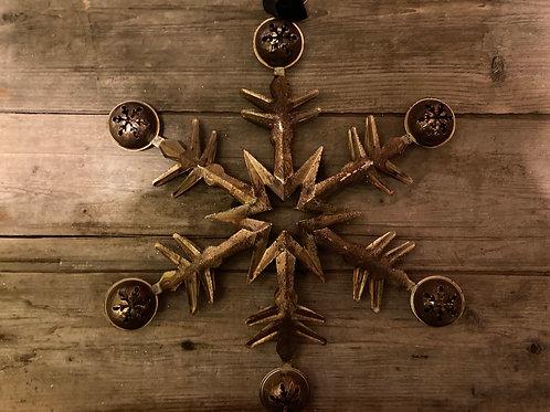 """12"""" x 12"""" Metal Snowflake"""