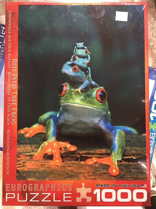 Red Eyed Tree Frog - 1000 Piece Puzzle