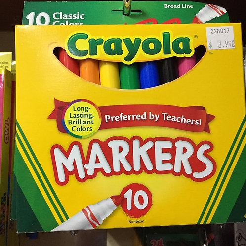 10 Crayola Markers