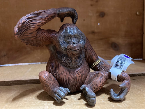 "3.5"" x 3"" Plastic Orangutan Toy"