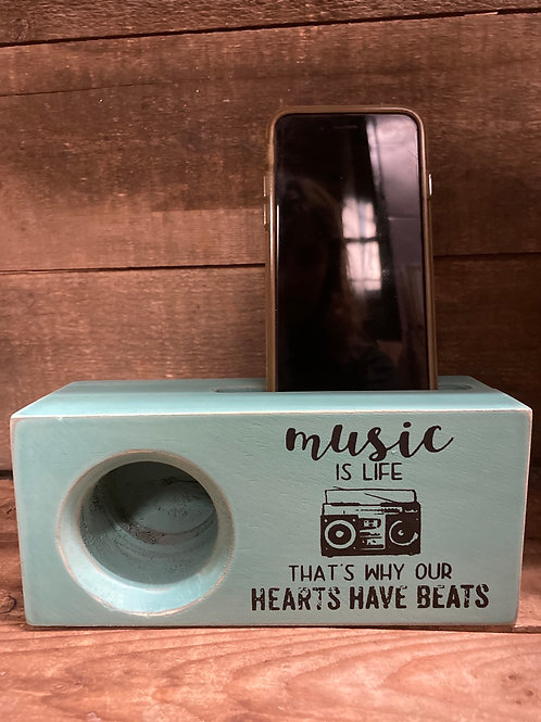 """""""Music is Life..."""" Wooden Smartphone Amplifier by Young's Inc"""