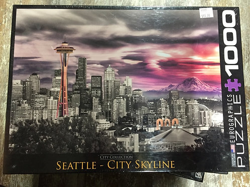 Seattle City Skyline - 1000 Piece Puzzle
