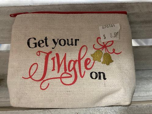 """""""Get Your Jingle On"""" Christmas Change Purse"""