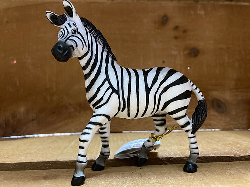 "4"" x 4"" Plastic Zebra Toy"