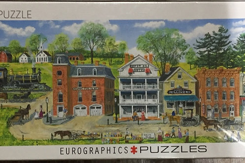 Train Station - 1000 Piece Panoramic Puzzle