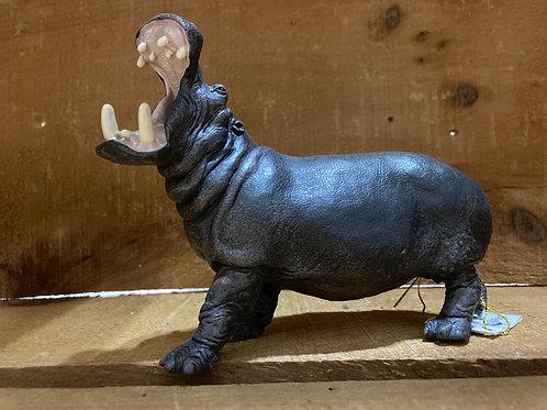"""5.5"""" x 4"""" Plastic Hippopotamus Toy"""