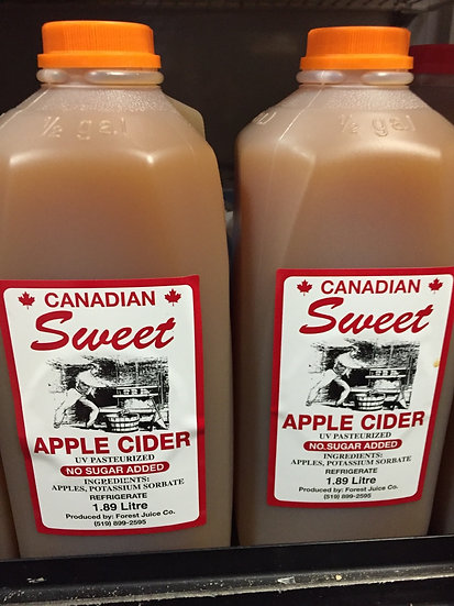 Forest Juice Co. Fresh Apple Cider 1.89 Liters