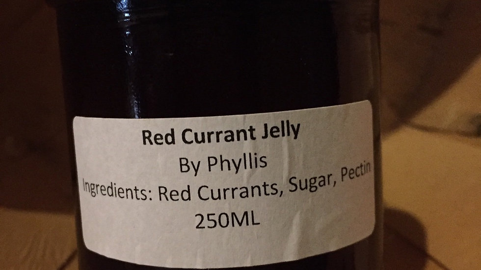 Phyllis's Red Currant Jelly (250ml)