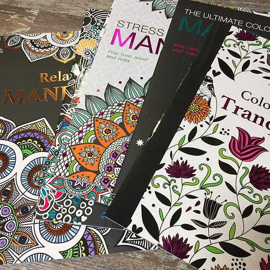 Mandalas and Colour Therapy Books