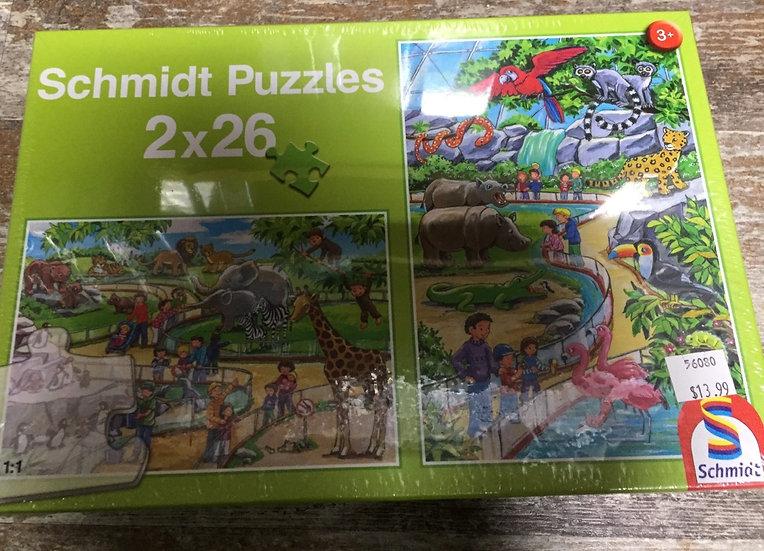 2 x 26 Piece Puzzles