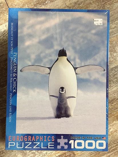 Penguin & Chick - 1000 Piece Puzzle