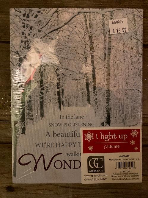 "8"" x 6"" Light Up Canvas Print"
