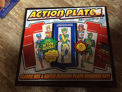 Action Plates Rub and Colour Design Set