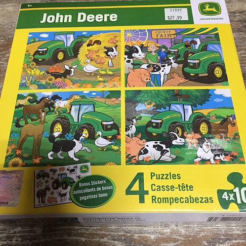 4 x 100 piece Licensed John Deere Puzzles