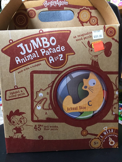 Begin Again Jumbo Animal Parade A-Z