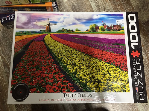 Tulip Fields - 1000 Piece Puzzle