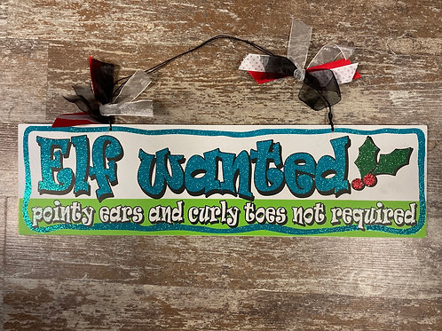 """19"""" x 5.25"""" Wooden Sign"""