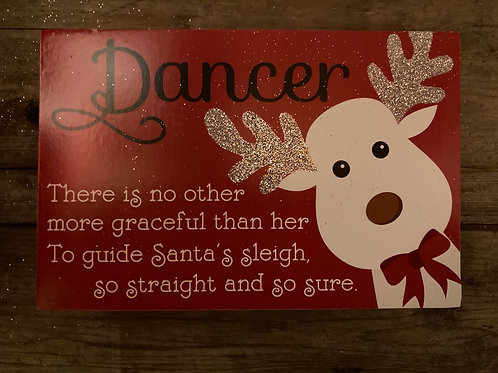 "6"" x 4"" Wooden Block Sign"
