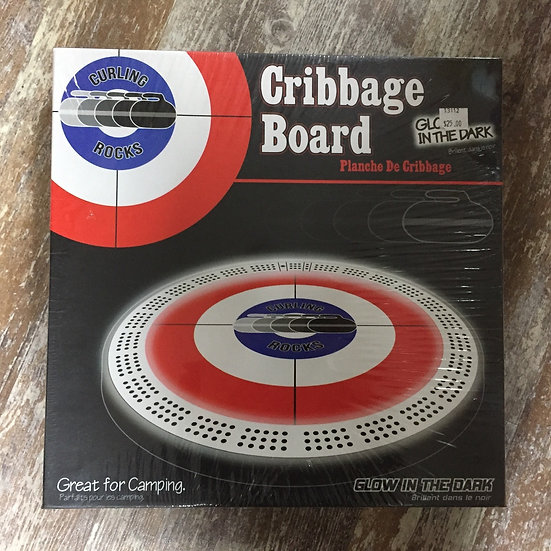 Curling Rocks Glow in the Dark Cribbage Board