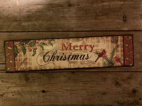 """15.5"""" x 3.75"""" Wooden Sign"""