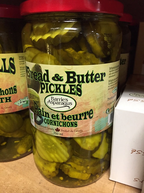 Barrie's Asparagus Bread and Butter Pickles