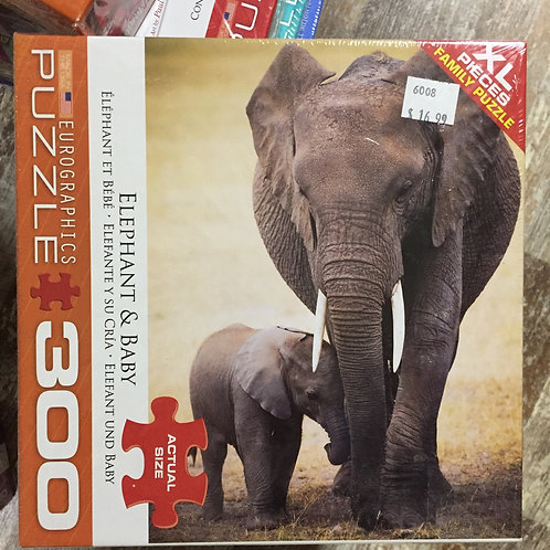 Elephant and Baby - 300 Piece Puzzle