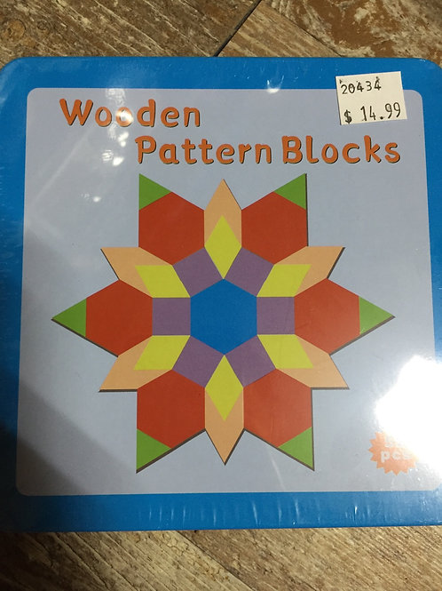 Wooden Pattern Block in a Tin