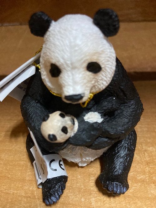 "3"" x 2.5"" Plastic Panda and Cub Toy"